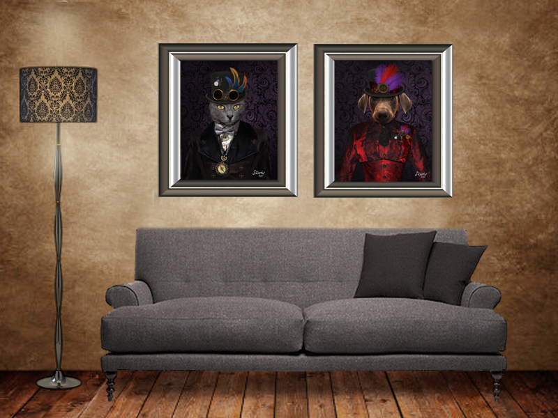Steampunk Cat Portraits