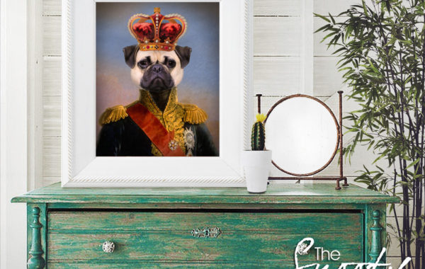 King Dog Portrait