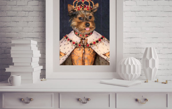 Pet Portrait – Queen Dog Portrait